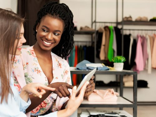 women in retail store